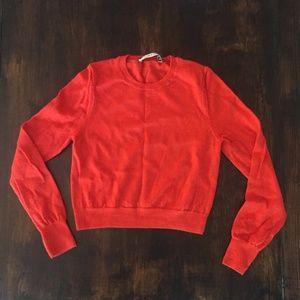 Blood Orange Trina Turk Cropped Sweater